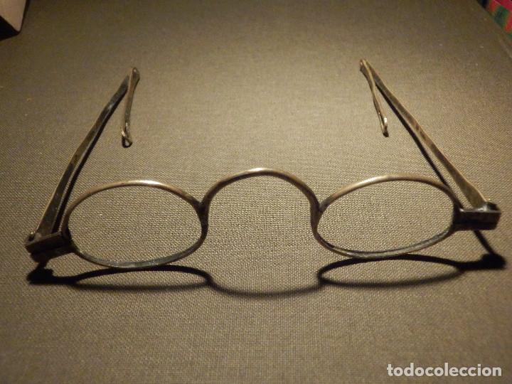 MUY ANTIGUA MONTURA DE GAFAS - LATÓN - 11 CM. PARA CRISTAL DE 33MM X 25MM - MARCA HERN - SIGLO XIX (Antigüedades - Técnicas - Instrumentos Ópticos - Gafas Antiguas)