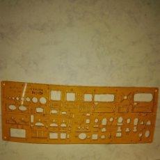 Antigüedades: PLANTILLA ROTRING - SANITARIOS - 25 X 9.5 CM.. Lote 73586763