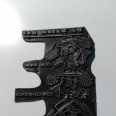 Antigüedades: PLANCHA DE IMPRESIÓN. IMAGEN DIBUJO Y LETRAS: DÉ USTED ASI, CON AMOR, CON CONFIANZA, CON ALEGRIA.. Lote 73657031