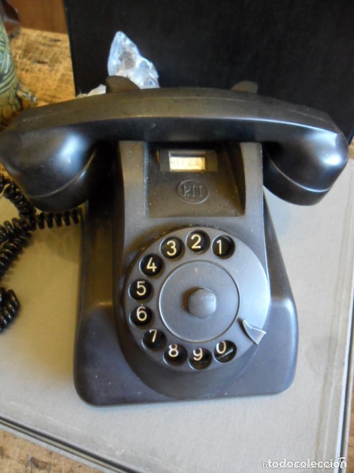 Teléfonos: TELÉFONO DE SOBREMESA EN BAQUELITA NEGRO - PTT - ANTIGUO - Foto 2 - 73832591