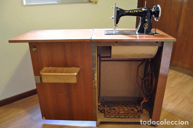 Maquina de coser alfa en perfecto estado segun comprar - Maquinas de coser con mueble ...