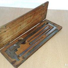 Antigüedades: CAJA DE HERRAMIENTAS PARA METAL, GLASHART, HELIOS. GERMANY. Lote 73975995