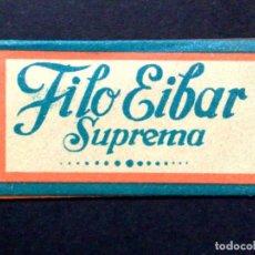 Antigüedades: HOJA DE AFEITAR ANTIGUA-FILO EIBAR SUPREMA-SUAVE Y DURADERA-VINTAGE. Lote 75043667