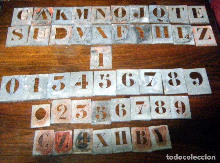 Lote 45 plantillas de letras y n meros para ser comprar - Letras para serigrafia ...