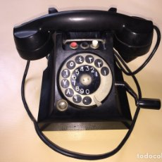 Teléfonos: TELEFONO ERICSON MAGNETO RED. BAQUELITA. 3 BOTONES LLAMADAS. ORIGINAL. MUY RARO. AÑO 1934.. Lote 74231713