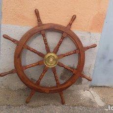 Antigüedades: TIMON DE BARCO DE MARDERA, PRECIOSO. Lote 74308443