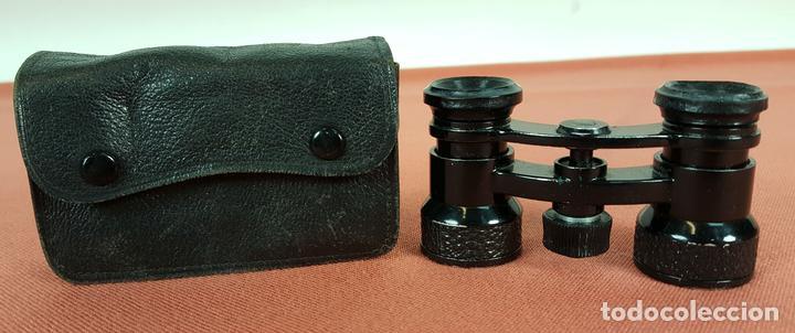 BINOCULARES DE OPERA. FALIEZ. PARIS. FRANCIA. FUNDA ORIGINAL EN PIEL. SIGLO XX (Antigüedades - Técnicas - Instrumentos Ópticos - Binoculares Antiguos)