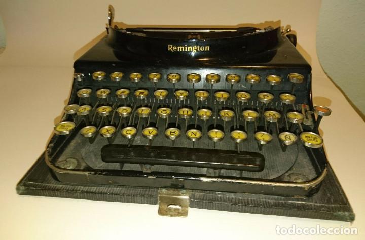 MÁQUINA DE ESCRIBIR COLECCIONISMO REMINGTON AÑOS 20. TECLADO FRANCÉS (Antigüedades - Técnicas - Máquinas de Escribir Antiguas - Remington)