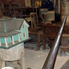 Antigüedades: CURIOSO Y GRAN FUELLE DE HERRERO. FORJA, MADERA Y PIEL. 1,24M DE ALTURA CERRADO. . Lote 74686663