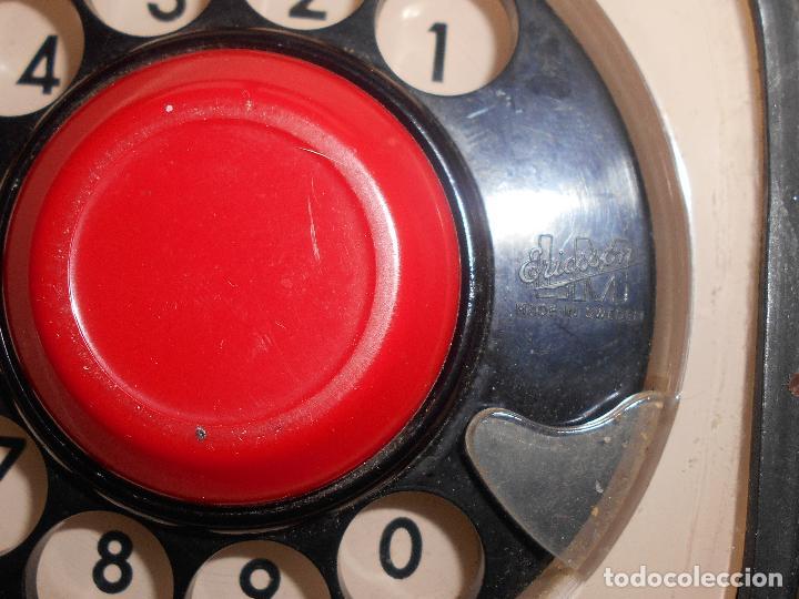 Teléfonos: TELEFONO ERICSSON ERICOFON MODELO COBRA, BLANCO HUESO, años 60 o 70 - Foto 6 - 74791423