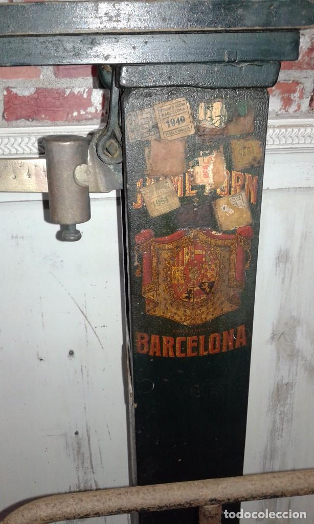 Antigüedades: BASCULA ANTIGUA MARCA JAIME FORN, BARCELONA - Foto 2 - 74944559