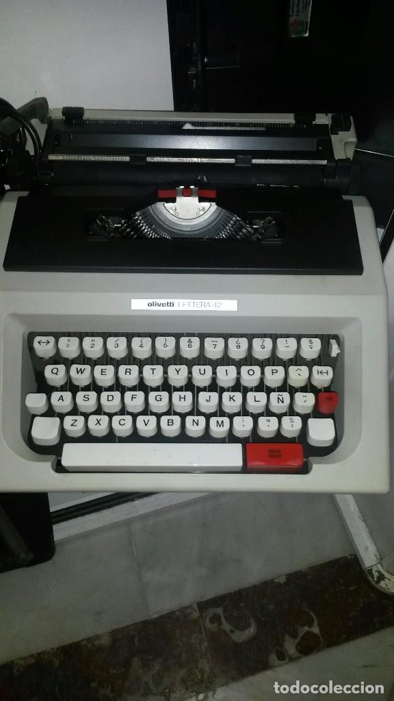 MAQUINA DE ESCRIBIR OLIVETTI LETTERA 42 (Antigüedades - Técnicas - Máquinas de Escribir Antiguas - Olivetti)