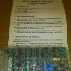 Antigüedades: PLACA PCB ADAPTA SERIE RS-232 PARA IMPRESORA. Lote 74980171