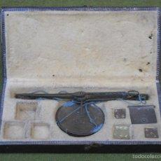 Antigüedades: PEQUEÑA BALANZA ANTIGUA DE DOS PLATOS.. Lote 74995923
