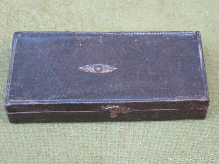 Antigüedades: PEQUEÑA BALANZA ANTIGUA DE DOS PLATOS. - Foto 7 - 74995923