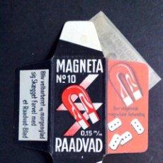 Antigüedades: HOJA DE AFEITAR ANTIGUA-MAGNETA Nº10-RAADVAD-VINTAGE. Lote 75060487