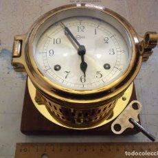 Reloj de bitacora BARIGO mecanico con soneria,antiguo yate años 60,revisado perfecto estado