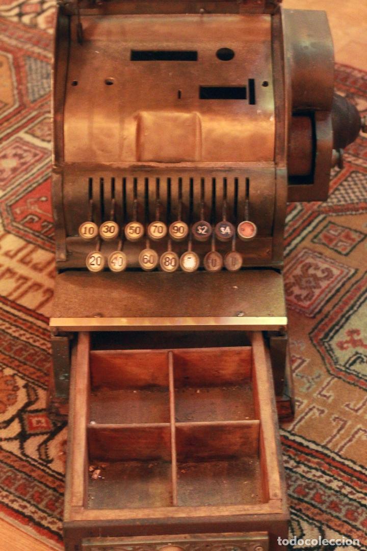 Antigüedades: Antigua maquina registradora, Milwaukee nº1, principios de siglo, única! Pieza de museo. - Foto 2 - 75116339