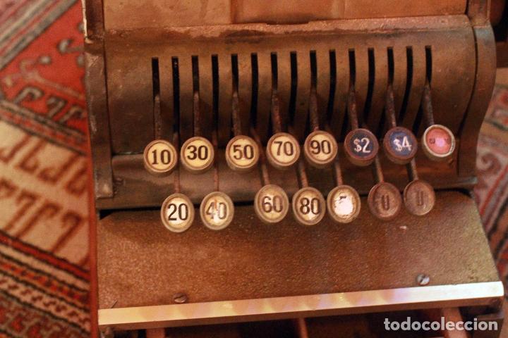 Antigüedades: Antigua maquina registradora, Milwaukee nº1, principios de siglo, única! Pieza de museo. - Foto 3 - 75116339