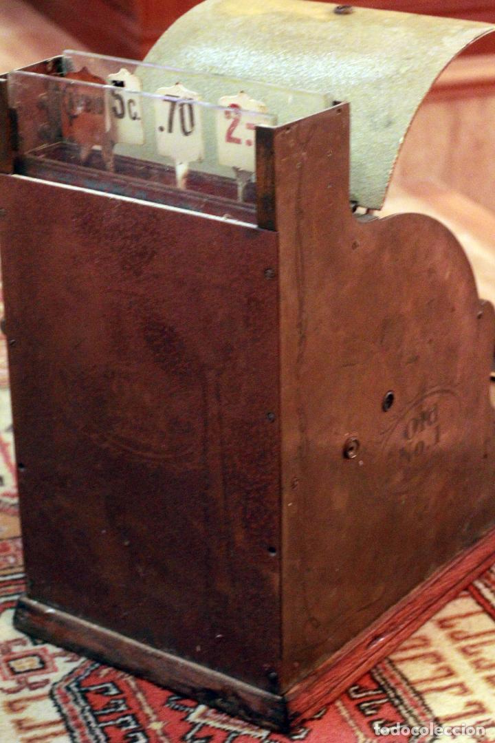 Antigüedades: Antigua maquina registradora, Milwaukee nº1, principios de siglo, única! Pieza de museo. - Foto 5 - 75116339