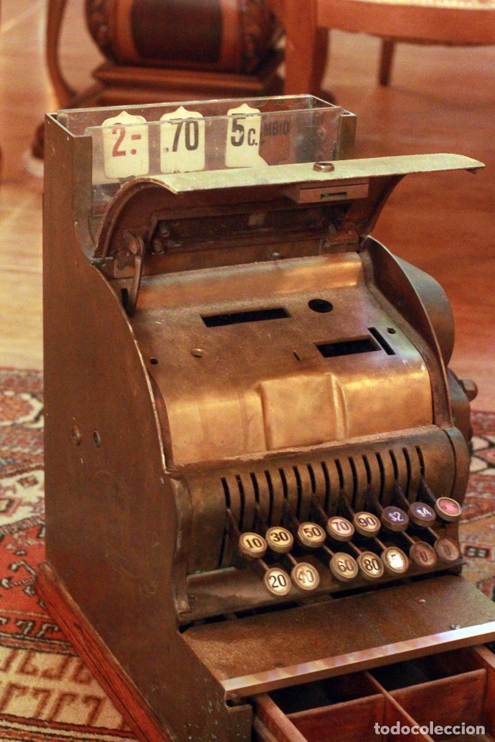 Antigüedades: Antigua maquina registradora, Milwaukee nº1, principios de siglo, única! Pieza de museo. - Foto 6 - 75116339