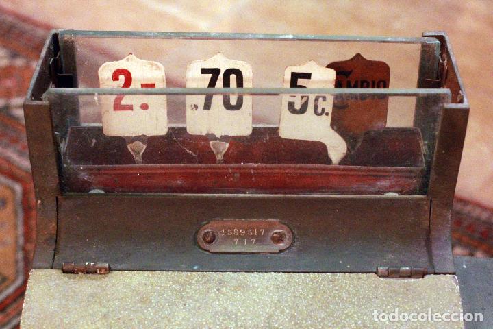 Antigüedades: Antigua maquina registradora, Milwaukee nº1, principios de siglo, única! Pieza de museo. - Foto 7 - 75116339