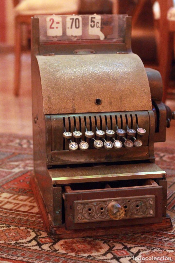 Antigüedades: Antigua maquina registradora, Milwaukee nº1, principios de siglo, única! Pieza de museo. - Foto 11 - 75116339