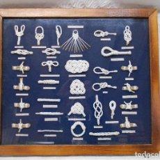 Antigüedades: CUADRO DE NUDOS MARINEROS. Lote 75132135