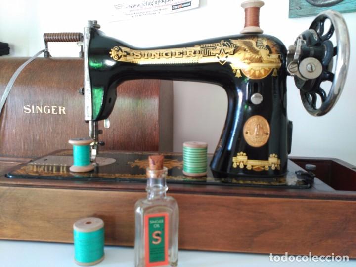 Antigüedades: Maquina coser Singer - Foto 3 - 75472939