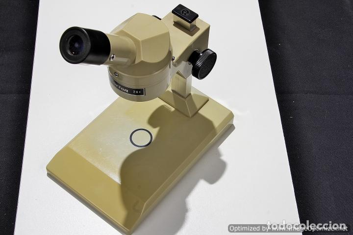 MICROSCOPIO MARCA CARTON 20X BBI PS020 (Antigüedades - Técnicas - Instrumentos Ópticos - Microscopios Antiguos)