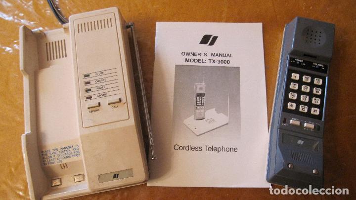 UNO DE LOS PRIMEROS TELEFONOS INALAMBRICOS.INSTRUCCIONES .ANTENAS TELESCOPICAS (Antigüedades - Técnicas - Teléfonos Antiguos)