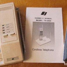 Teléfonos: UNO DE LOS PRIMEROS TELEFONOS INALAMBRICOS.INSTRUCCIONES .ANTENAS TELESCOPICAS. Lote 178642918