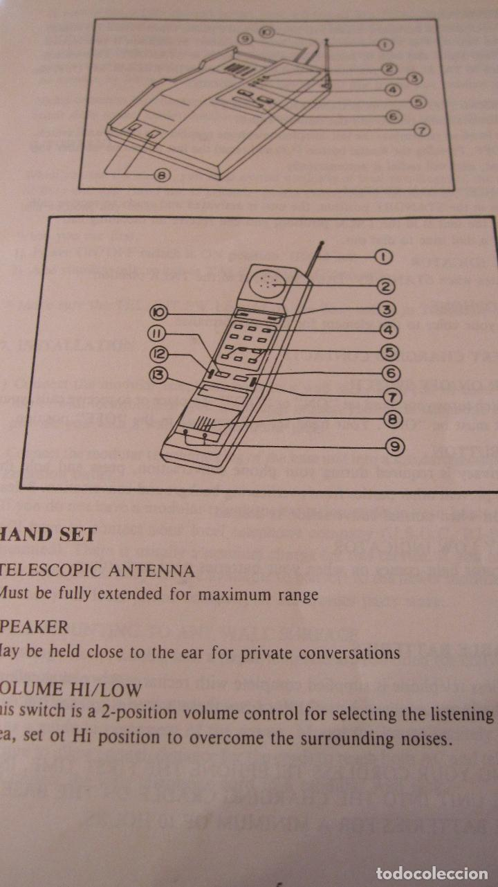 Teléfonos: UNO DE LOS PRIMEROS TELEFONOS INALAMBRICOS.INSTRUCCIONES .ANTENAS TELESCOPICAS - Foto 6 - 178642918