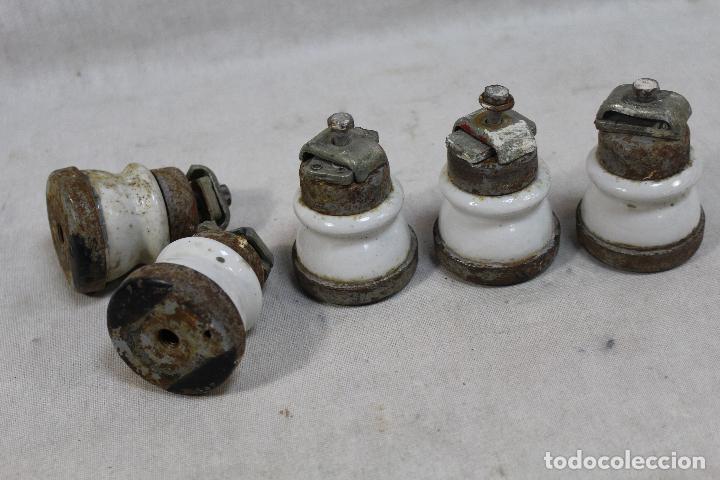 Antigüedades: electricidad - lote de 6 fusibles - porcelana / metal - Foto 2 - 75660543