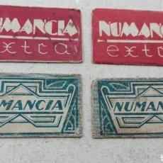 Antigüedades: LOTE 4 HOJAS DE AFEITAR NUMANCIA. Lote 75722629