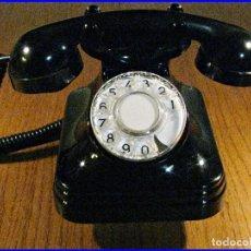 Teléfonos: TELEFONO VINTAGE BAQUELITA CTNE AÑOS 60 MAGNIFICO ESTADO. Lote 75732191