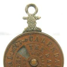 Antigüedades: SIGLO XIX . RARO ANTIGUO CALENDARIO PERPETUO MINIATURA METALES COLGANTE. Lote 75832223