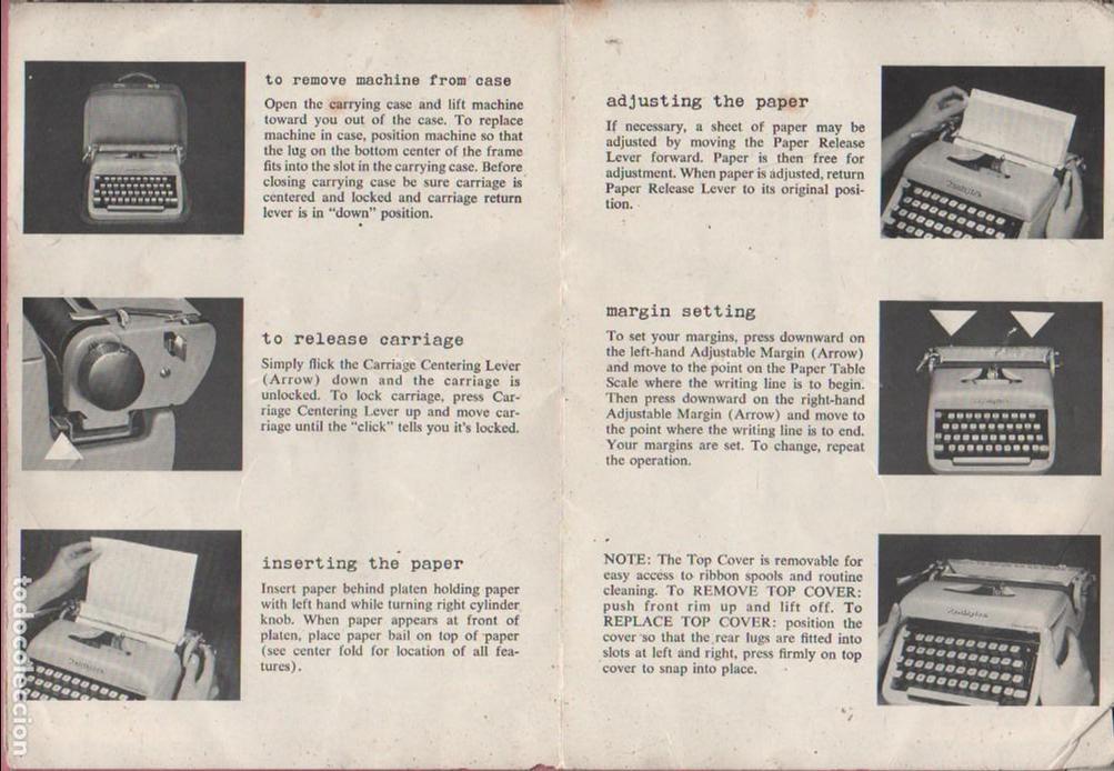 Antigüedades: catalago de de la maquin de escribir remington rand rem riter - portable typewriter - Foto 4 - 76010031