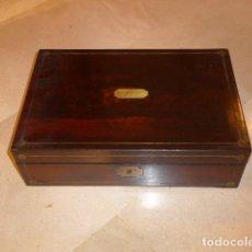 Antiques: * ANTIGUA CAJA ESCRITORIO DE BARCO DE S.XIX, ORIGINAL Y PRECIOSO. MARINA ESPAÑOLA. ZX. Lote 76391895