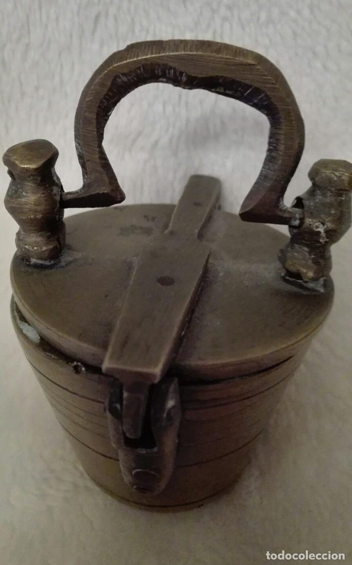 Antigüedades: ANTIGUOS PONDERALES CARL SIGLO XVIII PESOS VASOS ANIDADOS PERFECTO ESTADO EN BRONCE PATINA 143 eur - Foto 5 - 76556147
