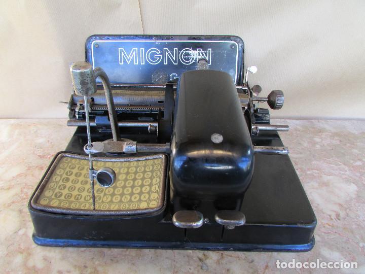 Antigüedades: Máquina de escribir año 1924 de sólo dos teclas MIGNON AEG. Funciona. De museo - Foto 2 - 76576367