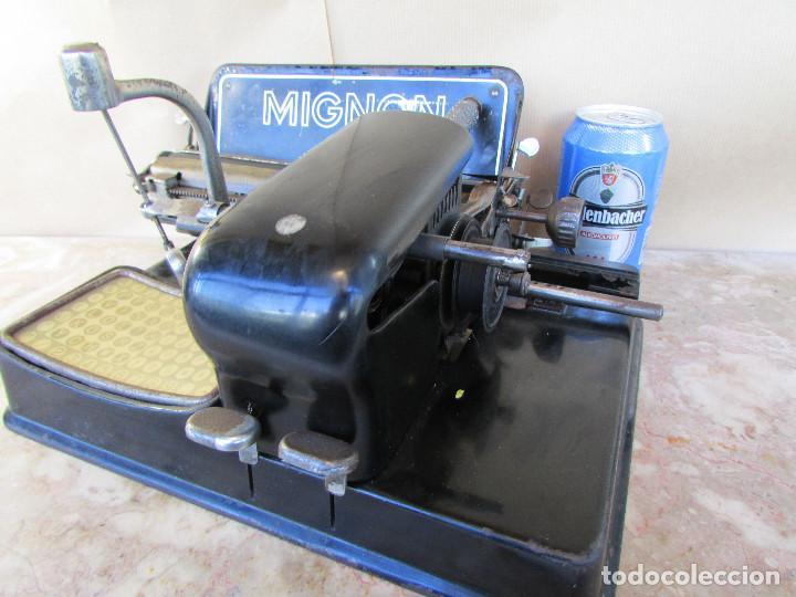 Antigüedades: Máquina de escribir año 1924 de sólo dos teclas MIGNON AEG. Funciona. De museo - Foto 4 - 76576367