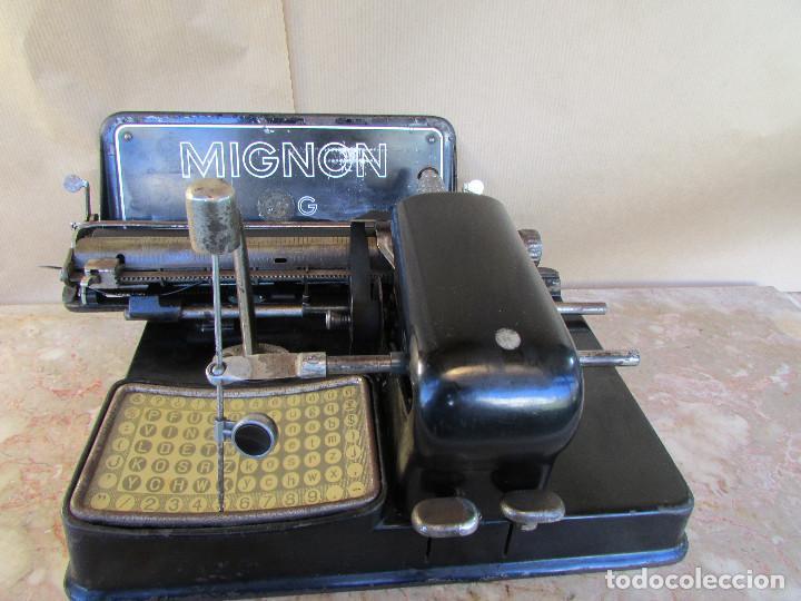Antigüedades: Máquina de escribir año 1924 de sólo dos teclas MIGNON AEG. Funciona. De museo - Foto 6 - 76576367