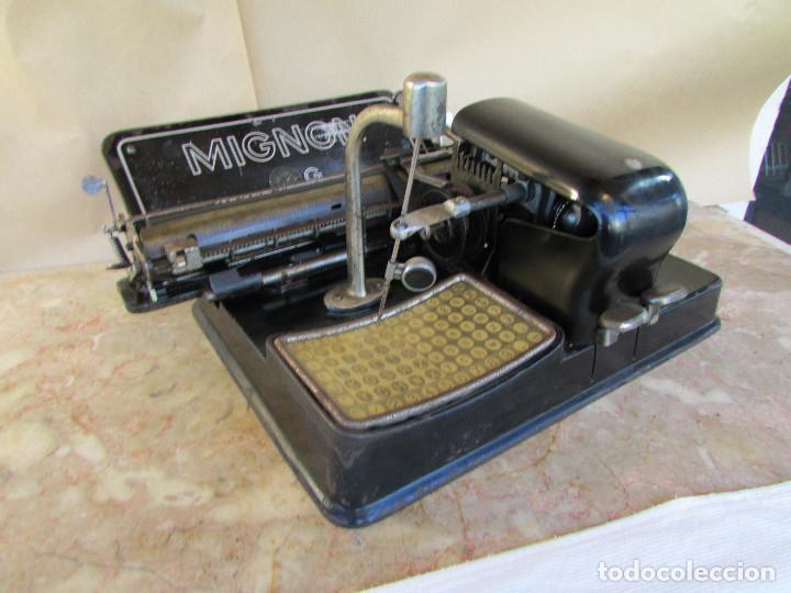 Antigüedades: Máquina de escribir año 1924 de sólo dos teclas MIGNON AEG. Funciona. De museo - Foto 9 - 76576367