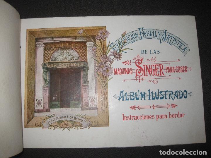 Antigüedades: EXPOSICION FABRIL Y ARTISTICA DE LAS MAQUINAS SINGER PARA COSER. ALBUM ILUSTRADO. 1901. - Foto 2 - 76593519
