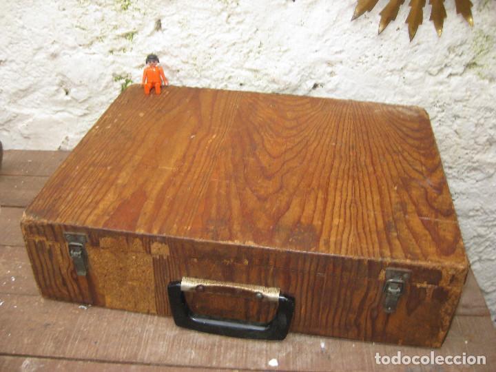 Antigüedades: PRECIOSA CAJA MALETIN USO O DECORACION INDUSTRIAL PARA TALADROS Y BROCAS EN MADERA AÑOS 40 - Foto 2 - 76630595