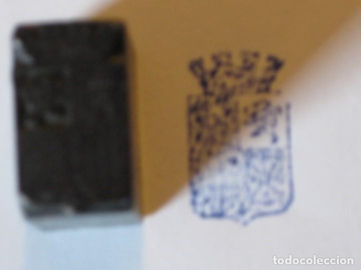 PLANCHA TACO / MOLDE DE HIERRO DE TIPOGRAFIA * ESCUDO ANTIGUO DE ESPAÑA* (Antigüedades - Técnicas - Herramientas Profesionales - Imprenta)