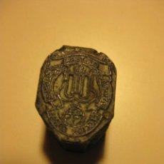 Antigüedades: PLANCHA TACO / MOLDE DE TIPOGRAFIA * ESCUDO ATENEO CULTURAL MANRESANO - SECCION CORAL*. Lote 76683119