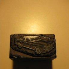 Antigüedades: PLANCHA TACO / MOLDE DE TIPOGRAFIA * COCHE AMERICANO *. Lote 76686023