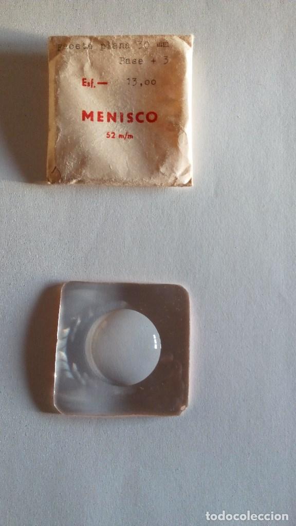ANTIGUO CRISTAL GRADUADO - MENISCO -13 (Antigüedades - Técnicas - Instrumentos Ópticos - Gafas Antiguas)